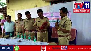 POLICE CONDUCT NATIONAL ROAD SAFETY WEEK IN PASTAPUR , ZAHIRABAD | Tv11 News | 25-04-2018