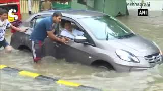 Roads, rail line submerge in water post heavy downpour in Mumbai