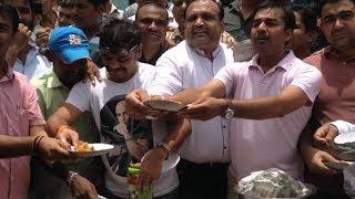 Textile market businessman Protested against GST
