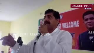 Ravinder Raina addresses public rally at Rajouri