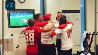 England Cricketers Celebrations after England beat Columbia on Penalties 4-3 in Fifa World Cup