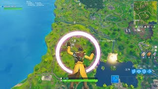 SKYDIVE THROUGH FLOATING RINGS ALL 20 RINGS LOCATIONS - Fortnite Week 10 Challenges COMPLETED