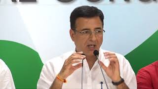 Modi Dupes Farmers: AICC Press Briefing By Randeep Singh Surjewala at Congress HQ