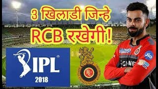 IPL 2018: The Three players whom Royal Challengers Banglore (RCB)  will keep with