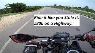 Ride it like you Stole it. Z800 on a Highway.