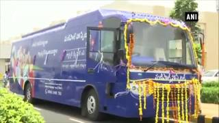 CM Naidu flags off cancer screening bus