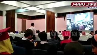 Kashmiri students remain seated during national anthem