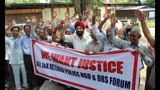 Police pensioners hold protest, project demands