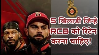 IPL 2018:  These five players will be able to retain the Royal Challengers Banglore (RCB)