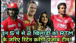 IPL 2018: Kings Eleven Punjab (KXIP) will Retain these three players with RTM
