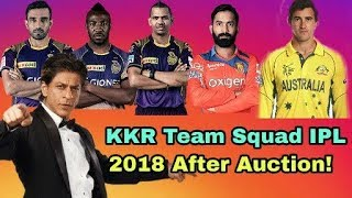 IPL 2018: Kolkata Knight Riders (KKR) Team Squad IPL 2018 | Cricket News Today
