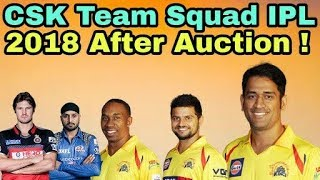 IPL 2018: Chennai Super Kings (CSK) Team Squad After Auction | Cricket News Today