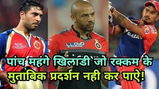 IPL 2018: The five expensive players who can not perform the amount accordingly | Cricket News Today
