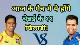IPL 2018: Chennai Super Kings (CSK) Vs Mumbai Indians |Chennai Super Kings Predicted Playing Eleven