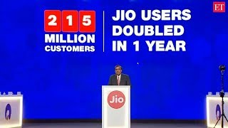 Reliance Jio subscribers grew from 124 million to 215 million in a year: Mukesh Ambani