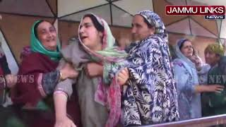 Tearful eyes bid farewell to martyr Javaid Dar in Shopian