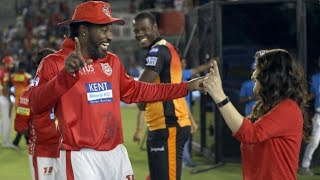 Preity Zinta huge chris gayle after winning against royal challengers Bangalore | KXIP vs CSK