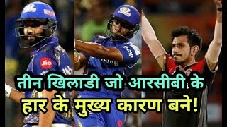 MI vs RCB IPL 2018: Royal challengers Bangalore lost due to these three players
