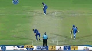 RR vs MI IPL 2018: Rajasthan Royals beat Mumbai Indians by 3 Wickets,Match Highlights