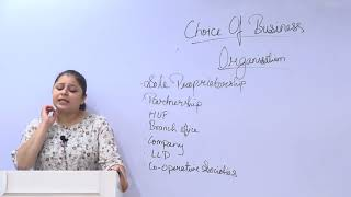 Choice of Business Organisation | Setting up of Business Entities and Closure by Prof. Janhavi