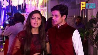 Drashti Dhami With Husband Neeraj At Rubina-Abhinav Wedding Reception In Mumbai