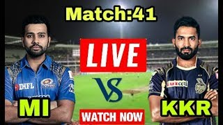 IPL 2018: Match 41 | MI Vs KKR | Live Streaming Match Video & Highlights | 09 May 2018