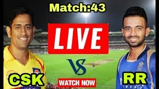 IPL 2018: Match: 43 | CSK Vs RR | Live Streaming Match Video & Highlights | 11 May 2018