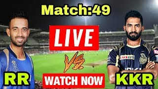 IPL 2018: Match 49 | KKR Vs RR | Live Streaming Match Video & Highlights | 15 May 2018