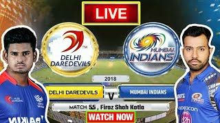 IPL 2018: Match 55 | MI Vs DD | Live Streaming Match Video & Highlights | 20 May 2018