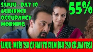 Sanju Movie Audience Occupancy Day 10 Morning Shows
