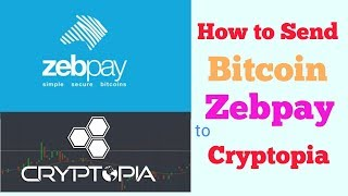 Zebpay to Cryptopia Bitcoin Transfer || How to Deposit Bitcoin From Zebpay to Cryptopia