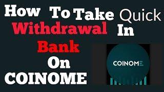 How to Withdrawal in Direct Bank Acount From COINOME Wallet || बिटकॉइन बैंक में विथड्रावल कैसे करें?