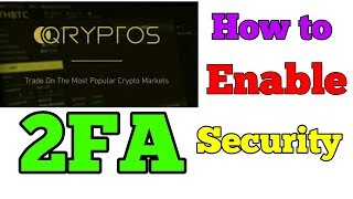 QRYPTOS EXCHANGE HOW TO ENABLE 2FA SECURITY || QRYPTOS EXCHANGE में 2FA कैसे लगायें?