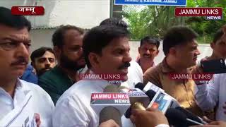 JKNPP protests outside SVO's office, demands probe against 'horse trading' by BJP MLA's