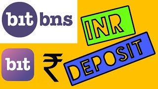 BITBNS DEPOSIT INR || HOW TO DEPOSIT IN BITBNS || INR DEPOSIT IN BITBNS