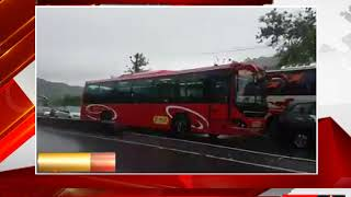 ठाणे - बारिश से जनजीवन-यातयात पर असर- tv24