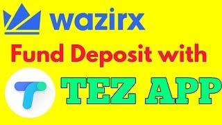 WAZIRX FUND DEPOSIT WITH UPI || WAZIRX एक्सचेंज में TEZ APP से FUND कैसे डिपाजिट करें?