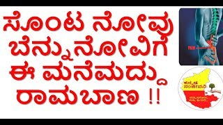 How to reduce Back Pain Naturally..kannada Sanjeevani..