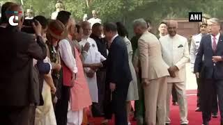 South Korean President Moon Jae-in receives ceremonial reception at Rashtrapati Bhavan