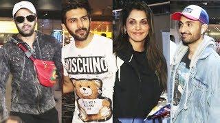 Celebs Spotting At Mumbai Airport   Kartik Aaryan, Manish Paul, Diljit Dosanjh