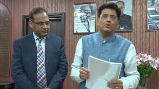 Power Minister Shri Piyush Goyal appreciated the initiative of the Institute on GST