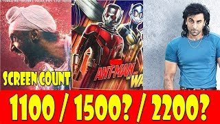 Soorma Vs Sanju Vs Antman And The Wasp Screen Count Divide Expectations