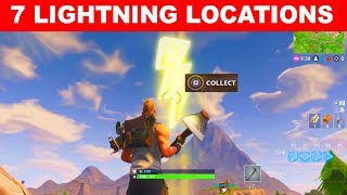 """""""Search floating Lightning Bolts"""" ALL 7 Locations - Fortnite Season 5 Week 1 Challenges"""