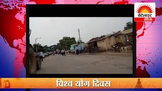 धरने पर बैठे सैंकड़ों मज़दूर, #सेटेलाइट इंडिया  | 24x7 News Channel