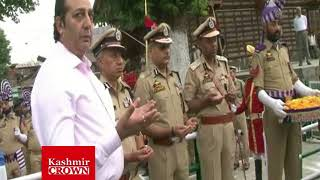 DGP & Divisional Commissioner Visit And Pay Tributes to Martyrs IN Downtown Srinagar(Sujah Baqal)