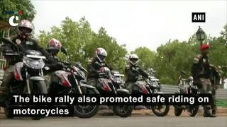 Military police corps conduct 'bike rally' ahead of 19th anniversary of Kargil War