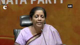 Congress is getting back to divide India mind set- Nirmala Sitharaman