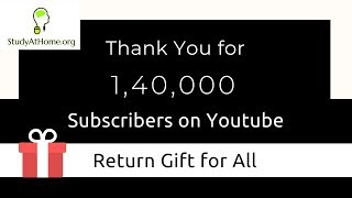 1,40,000 Subscribers | Gift for All !!!