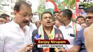 Mumbai potholes: Congress protests against BMC over potholes menace in Mumbai
