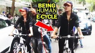 Rhea Chakraborty Riding Salman's Being Human E Cycle On Street